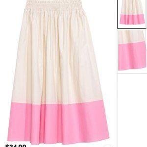 H&M Colourblock Midi Skirt Size 2